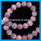 fashion light rose cat eye beads HJ1054