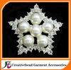 star rhinestone pearl brooch