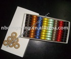 Bobbin thread with paper cardboard sides