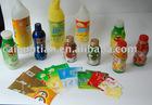 food and beverage bottle shrink film label