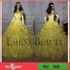 2012 Hot Sale Floor-length Organza Beaded Stunning Strapless Sweetheart Quinceanera Dress