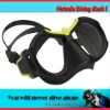Quality snorkeling diving gears,anodize black aluminum frame with rubber paint