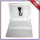 tablet pc leather case bluetooth keyboard