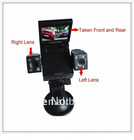 120 Wide Angle View 2 Cameras traffic recorder With 270 Degree Turning Lens V660