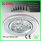 Zhongshan 3w recessed led ceiling light