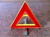 high-tech LED car emergency warning triangle
