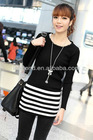 Wholesale Korea Fashion Striped Pullover Sweater