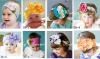 Yiwu Beautiful princess style Colorful flower headbands cotton hair band cotton head scarf Baby headwear headdress
