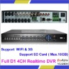 4CH D1 Realtime Recording 100fps/120 fps recording for D1 DVR H.264 Stand Alone DVR