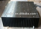 anodized black communication system aluminum heatsink