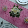 Jacquard organza table runner and table runner for round table