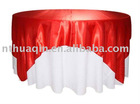 wedding and banquet satin table overlay and polyester table linens
