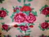 100%cotton reactive printed velour jacquard embroidery blanket