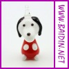 dog Shape Glass Pendant for Cellphone Decoration