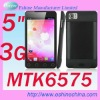 "5"" 3G Android4.0 phone Dual SIM PAD capacitive touchscreen cellphone mobile phone 3G 8MP camera smart phone GPS A75"