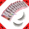 Cheap! 10 Pairs Synthetic Fiber Thick Wholesale False Eyelashes