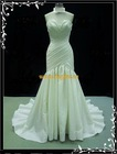 Factory Outlet 2012 Beautiful Big Ruffle bodice Fashion Satin Different Mermaid Wedding Dress