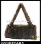 New fashion lady knitted mink fur bag/luxury mink fur bag