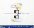 2x Micro Sim Adapters for Iphone 4G / iPod