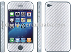 Carbon Fiber Sticker for iphone 4 phone skins