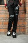 GLP PUNK VISUAL KERA BLACK BONDAGE PANTS 71037