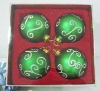 glass Christmas hanging ball ornament& promotional gift box