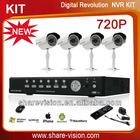 4CH 720P nvr ip camera surveillance systems