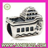 Wholesale European Sterling Silver Boat Yacht Charm Beads