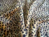 100% polyester printed leopard fake fur