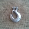 Rigging hardware clevis slip hook with latches