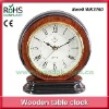 Round quartz clock movement retro bedside table clock silent