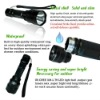 2012 rechargeable led emergency tactical flashlight factory price