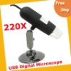 Free shipping Digital Microscope ----USB Digital Microscope 5x- 220x 8 built-in LED lights