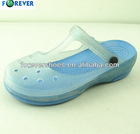 Pretty lady comfortable pvc sole shoes ,injection shoes