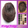 Synthetic fashion hair bun red brown stright hair pieces