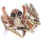 Crystal Night Owl Animal BANGLES BRACELETS 1297946
