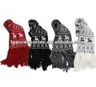 2012 Fashion Cute Christmas scarf Xmas scarves for girl