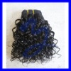 10inch color 1 jerry curl Indian remy hair weft