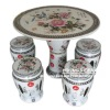 Beautiful Jingdezhen Hand Painted Porcelain Garden Table And Chair Stool Set