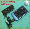 2600mAh solar battery with solar charger with Al alloy frame