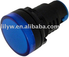 AD22-30DS pure blue 30mm led signal light