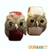 Fashion Alloy Owl Shape Black Eyes Bangle Cuff Bracelet