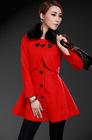 New wool woolen cloth red twinset dress