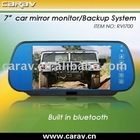 rearview mirror monitor-7'' rearview monitor/touch button/dule video inputs