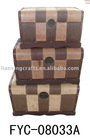 S/3 Antique Storage Boxes
