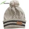 pom pom knitted beanie hat