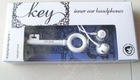 Fashional design in White Key shape Earphone