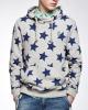 Men's fashion long sleeve solid colour high quality fleece allover printed sweatshirt