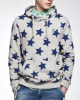 Men's fashion long sleeve solid colour high quality fleece allover printed sweatshirt