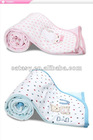 Top quality Cute 100% Cotton baby warming quilt soft&free OEM